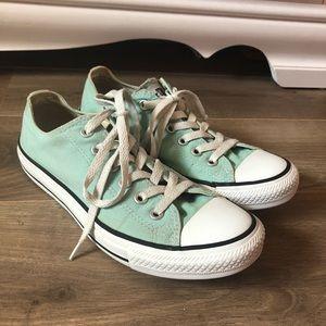 Mint Converse All Stars